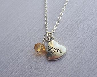 Mom Birthstone Necklace