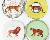 Jungle Cats plate set
