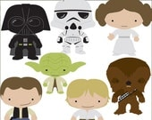 Star Heroes Clip Art Set -Personal and Limited Commercial- Trooper, Princess, Wars clipart NO WEAPONS
