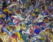 African Fabric Rag Rug from Ghana