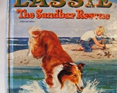 "25% Off Storewide Sale 1964 Lassie ""The Sandbar Rescue"" Hardcover Book Whitman Top Tales #2475"
