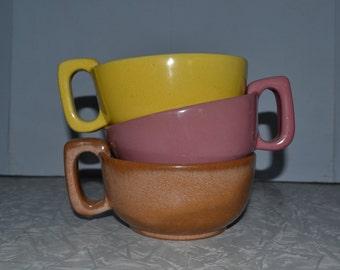 Frankoma 4SC Soup Mugs Set of 3 ~ Frankoma Mug ~ Pottery Mugs ~ Epsteam