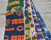 House Divided Choose your Teams NFL Football Baby Burp Cloths made with Cloth Diaper