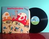 The Smurfs Smurfing Sing Song Vinyl Record Album LP 1980 Children's Cartoon Sing Along TV Soundtrack Very Good + Condition Vintage