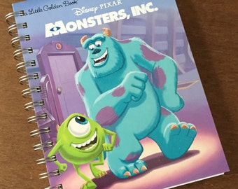 Monsters Inc. Little Golden Book Recycled Journal Notebook