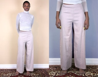 Palazzo Pants Linen Pants Light Pants Wide Leg Pants High Waisted Pants Summer Pants Wide Leg Trousers High Waisted Wide Leg Pants Legged
