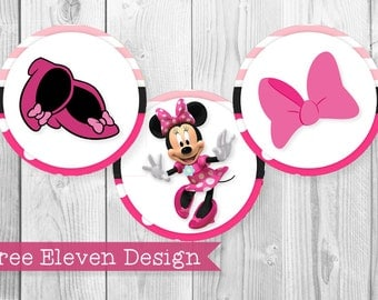 Minnie Mouse PRINTABLE Cupcake Toppers