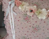 Vintage Millinery Floral Garland ~ Flower Swag ~ Wedding ~ Bridal ~ Romantic Prairie Style ~ Shabby Chic