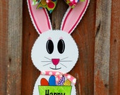 Easter Bunny Door Hanger Spring Decor Front Door Hanger Easter Decoration