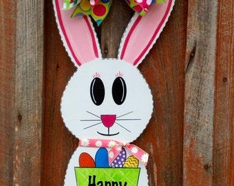 Easter Door Decor Spring Decor Front Door Decor Easter Decoration Easter Bunny Door Hanger