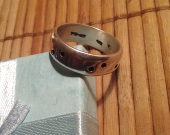Men's Sterling Silver Band Ring Size 11 Taxco Mexico