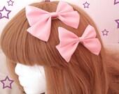 Kawaii Pink Sweet Lolita Hair Bows Set of 2