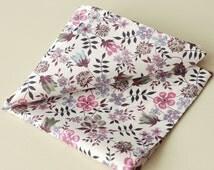 Liberty Pocket Square - Liberty tana lawn Edenham - floral pocket square - purple pocket square - Liberty handkerchief - cotton square