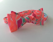 """Lilly Pulitzer """"Lovebirds"""" Fabric Bow Tie"""