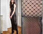 Black Sequins Tulle, Lace, Corded French Lace, Black Lace (C2)