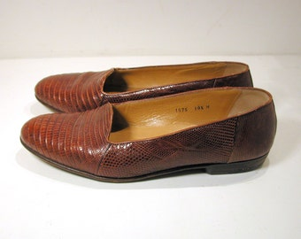 Bragano Loafers By Cole Haan, Men's Lizard Leather Italian Shoes, Size 10.5