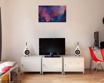 MILKY WAY custom spray paint space painting / art - birthday - gift - dorm room - child room - wall art - decor