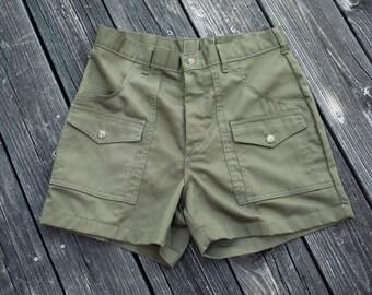 Vintage Army Green Boy Scouts Shorts Mens 32 MINT