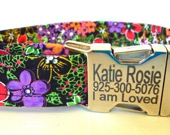 Add ID Buckle to Dog Collar / Engraved Dog Collar Buckle/ ID Tag / ID Buckle / Add to Harness Available