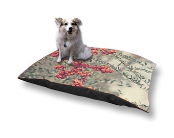 Pet Bed Dog Bed Red Berries 18x28 30x40