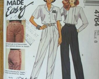 Vogue 4764, Ladies Trousers, Ladies Pants
