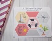 Summer, Beach Hexagon Planner Stickers (001) - inkWELL Press Planners, Erin Condren, Kikki K