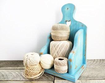 Pretty Blue Shelf - Hanging Shelf - Blue Home Decor - Modern Country Chic