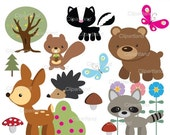 ON SALE INSTANT Download Forest friends 3. Personal and commercial use.
