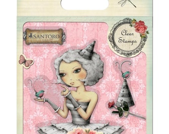 "Mirabelle 2 "" TELL ME SOMETHING  "" SANTOROs of London Cling Stamp Set - Rare !! Trimcraft - DoCrafts -"