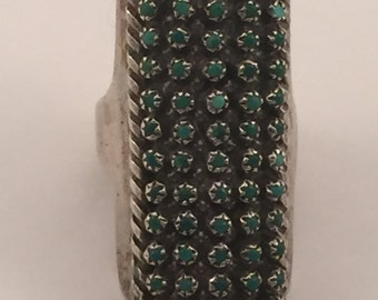 Vintage Zuni Lloyd Ameso??? 60 snake eye ring sz 5