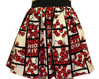 Hello Kitty Bows Full Skirt