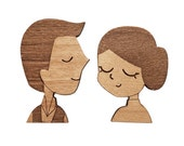 MOVIES : Han Solo + Princess Leia Brooches