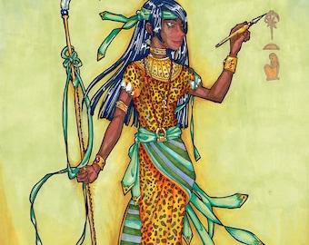 Seshat - 8 x 10 - Goddess of Writing and Measurement