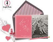 Valentine Photo Card - LOVE Is In THE AIR Printable