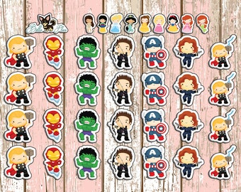 HS Heroes Planner Stickers | Any Planner | Avengers | Hulk | Iron Man | Captain America | Thor | Black Widow | Hawkeye | Erin Condren |