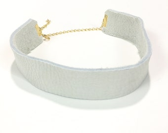 Cyress Leather/Suede Choker