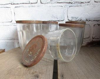 Vintage Glass Jar With Rustic Lid