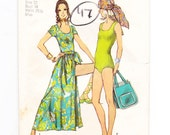 Wrap Skirt Pattern, Tote Bag, Bodysuit Pattern, Size 12