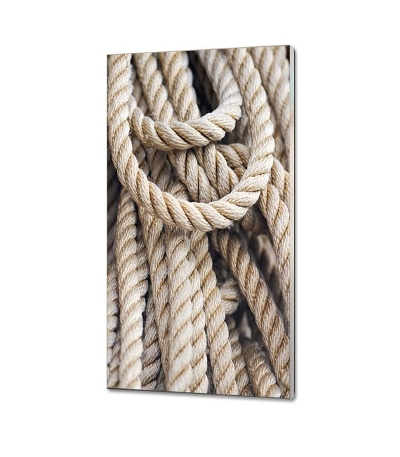 Items similar to acrylic print glass wall art nautical for Large nautical rope