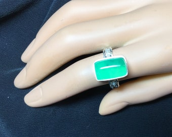 Giant Chrysoprase Ring