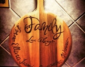 Family Personalised Pyrography Pizza Paddle