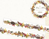 1 Roll of Limited Edition Washi Tape: Pinecone Wreath