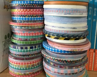 Clearance SALE  Random Pick 10 Very Silm Washi Tape