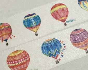 1 Roll of Limited Edition Washi Tape Roll- Colorful Hot balloons
