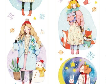 1 Roll of Limited Edition Washi Tape:  Girls of Twinkle Twinkle little Star