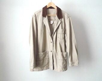 TWIN PEAKS oxford denim CONTRAST corduroy collar 90s jacket coat