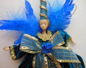 SUGAR PLUM FAIRY * Angel Ornament * Fairy Princess *Queen * Muse * Renaissance * Old Fashioned Christmas