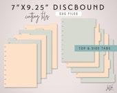 SVG DISCBOUND Planner Divider Pages Die Cutting Files