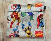 Marvel Hulk Iron Man Captain America Super Heros Reusable Sandwich bag
