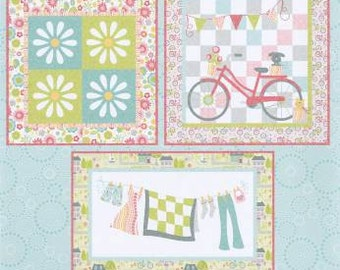 Cherry Blossoms Sunday Ride Minis CB127 Mini Quilt Pattern